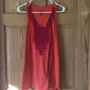 Coral and hot pink racer back tank